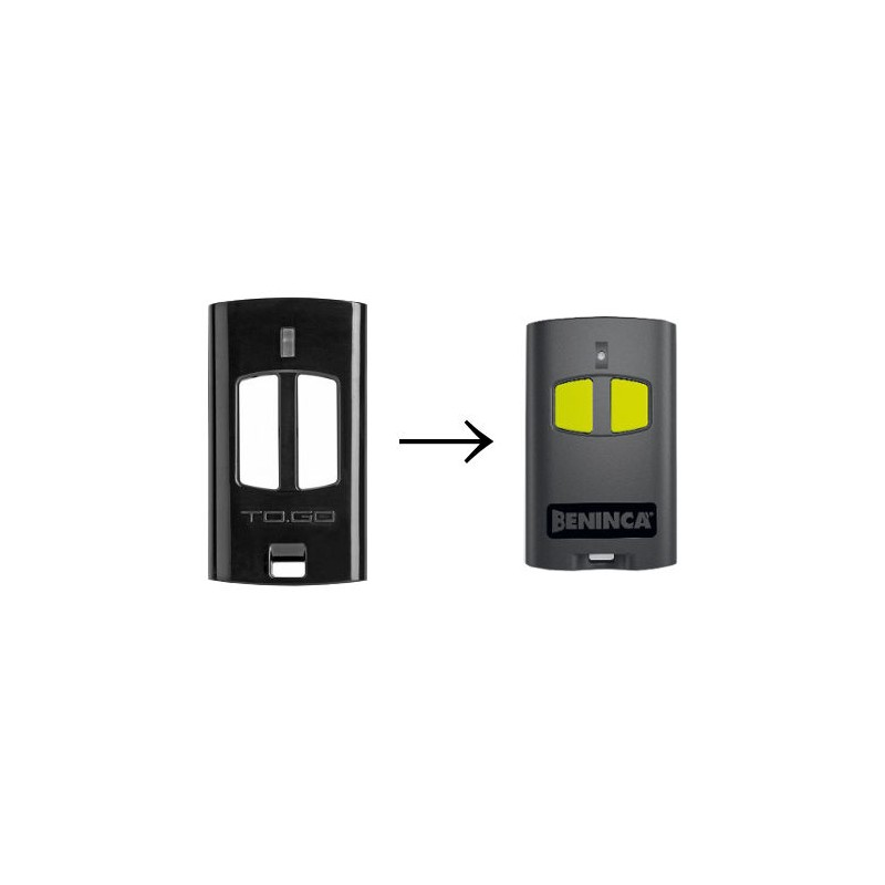 TOGO2WV BENINCA Télécommande portail 2 boutons