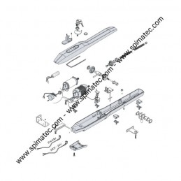 5RI1020000 LIFE - Vue éclatée motorisation portail LIFE OP3 - OP5
