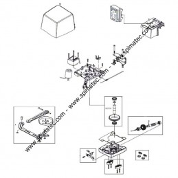 5RI1350000 LIFE - Vue éclatée motorisation portail LIFE ARMOR