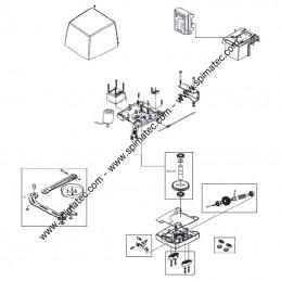 5RI1380000 LIFE - Vue éclatée motorisation portail LIFE ARMOR