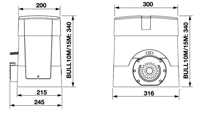 Dimensions BENINCA BULL10M