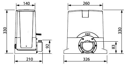 Dimensions BENINCA BULL424