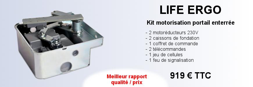 Kit motorisation portail enterrée LIFE ERGO